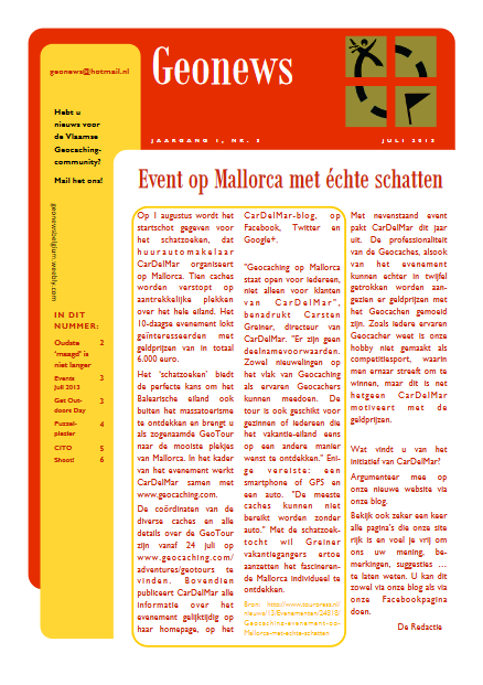 cover Geonews - juli 2013