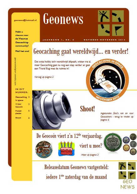 cover Geonews - oktober - november 2013