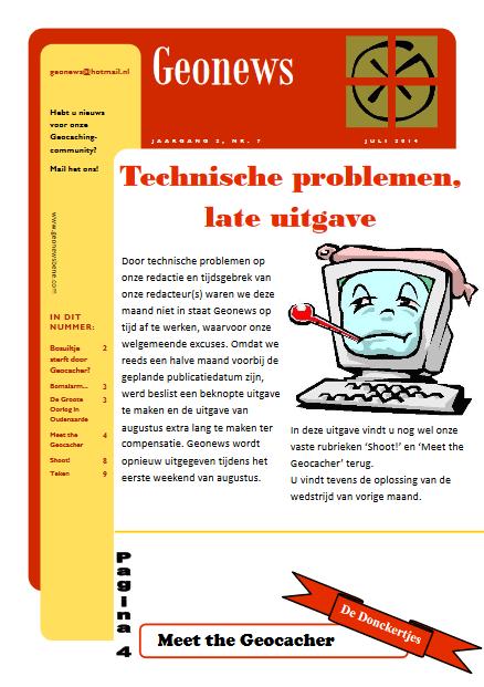 cover Geonews - juli 2014