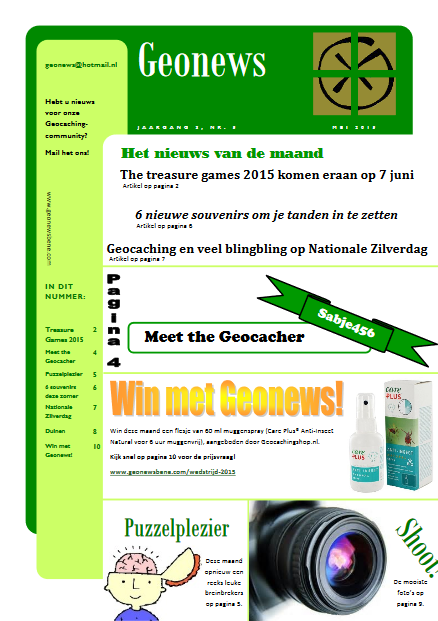cover Geonews - mei 2015