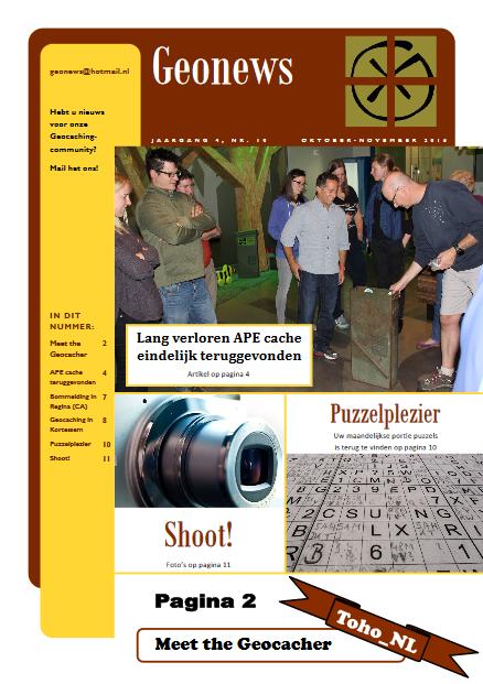 cover Geonews - oktober - november 2016